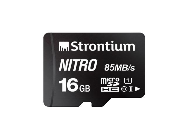 Strontium Technology Nitro 16GB micro SD Single Pack ? 85MB/s U1 Class