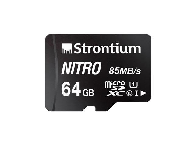 Strontium Technology Nitro 64GB micro SD Single Pack 85MB/s U1 Class
